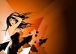 Detaily fotografie oranžová taneční dáma