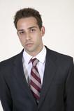 Caucasian man in business suit poster