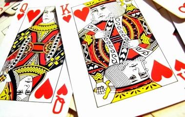 roi et reine de coeur