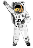 astronaut with clenched fist poster