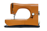 bright orange sewing machine