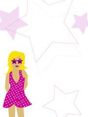 pink rockstar girl background