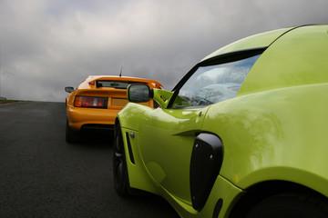 cars on track