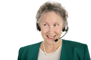 senior phone operator
