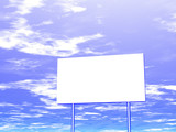 empty billboard and sky in the background poster