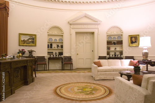 Leinwanddruck Bild oval office