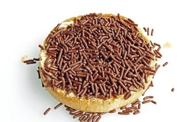 dutch cracker with chocolate sprinkles