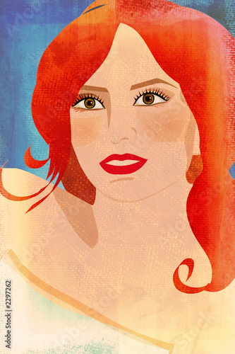 textured woman illustration