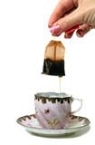 dripping tea bag poster