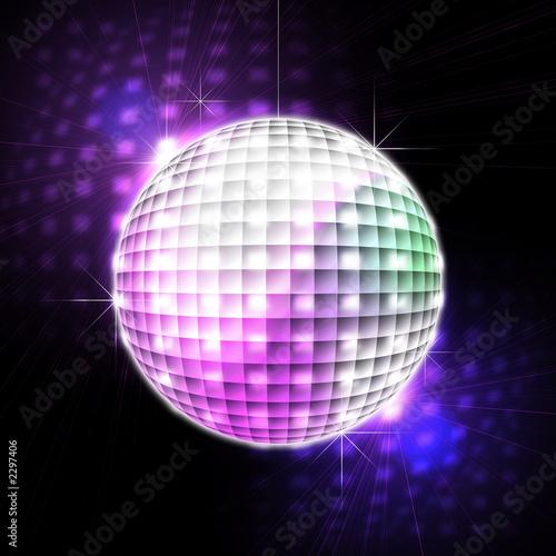 Leinwanddruck Bild disco