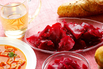red beetroot salad