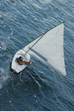 sailboat, overhead view poster