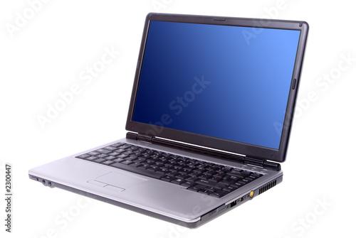Leinwandbild Motiv laptop isolated