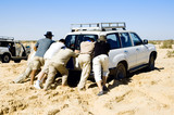 problems with car while safari at the desert poster