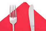 napkin and fork poster