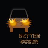 drunk driver illustration poster