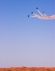 planes above the dunes