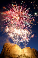 fireworks over mt rushmore