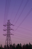 high voltage powerline poster