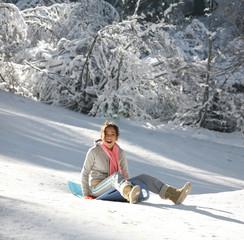 girl on a sled