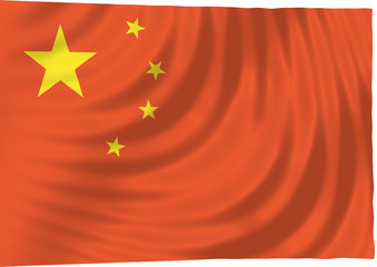 china - floating free chinese flag