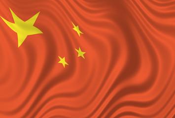 china - wrinkled chinese flag