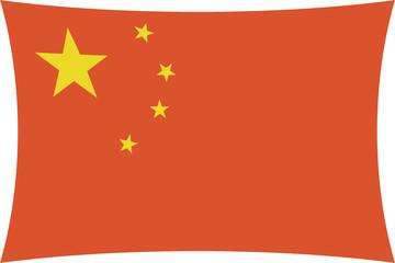 china - four corners chinese flag