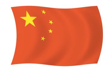 china - floating chinese flag