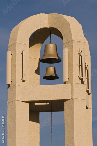 adobe bell tower.