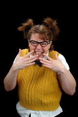 nerd girl laughing
