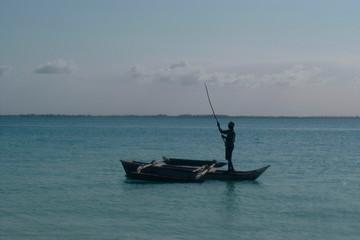pêcheur à l'horizon