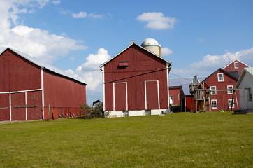 red amish farm