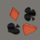 card game symbols poster