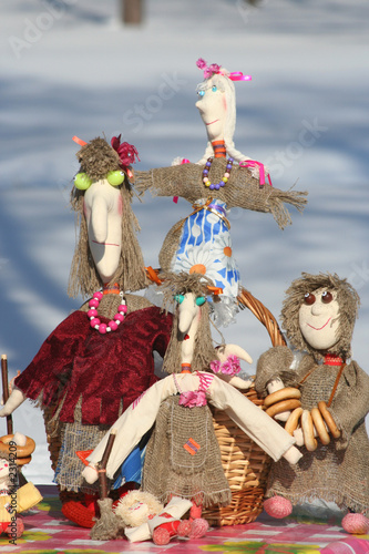 national russian craft handmade dolls
