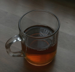 the glass of tea