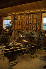 wooden shoe workshop