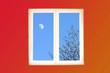 fenêtre et lune