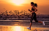 woman running on the beach - Fine Art prints
