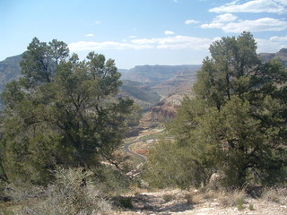 overlooking the salt river canyon