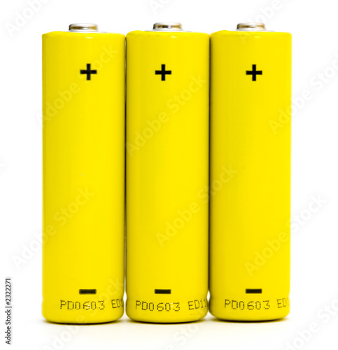 batteries isolated on white background - 2322271