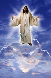 jesus on a cloud poster