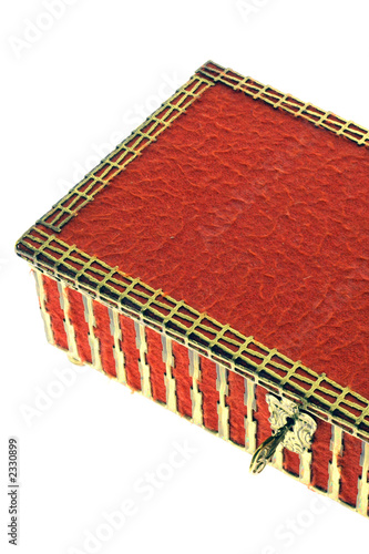 red old casket pyxis