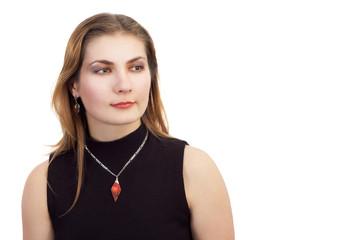serene girl with jewelery