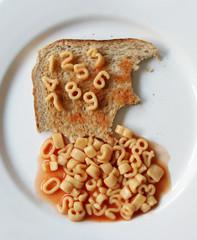 number spaghetti on toast