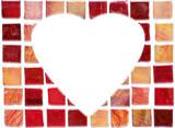 ceramic tile heart poster