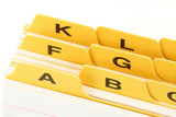 yellow file divider poster