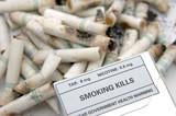 government warning: smoking kills poster