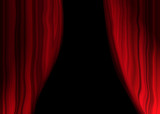 theater curtains poster
