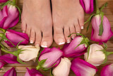 roses and feet poster