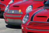 red mini coopers poster